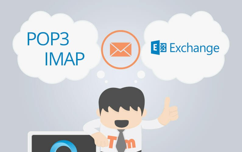 Types of email account: POP, IMAP and Exchange