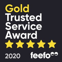 IT Support London - Gold Trusted Service Award - Feefo 2019